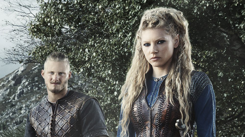 Photo of The Vikings on location