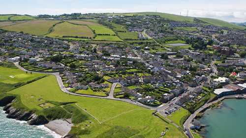 An aerial view of one of Wicklow's many residential areas which require planning applications