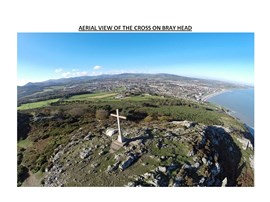 Aerial View of Cross on Bray Head